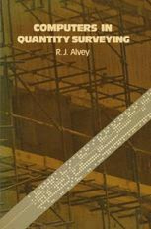 Computers in Quantity Surveying