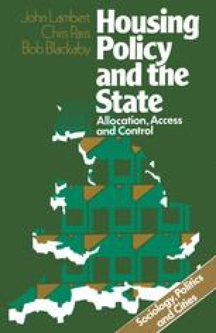 Housing Policy and the State