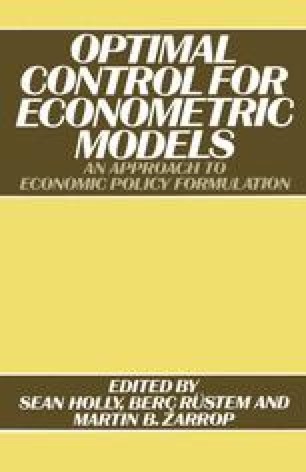 Optimal Control for Econometric Models