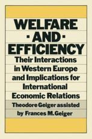 Welfare and Efficiency