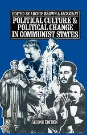 Political Culture and Political Change in Communist States