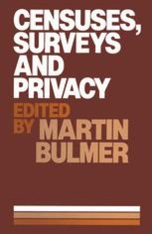 Censuses, Surveys and Privacy