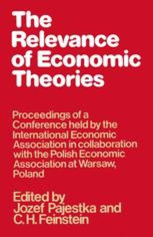 The Relevance of Economic Theories
