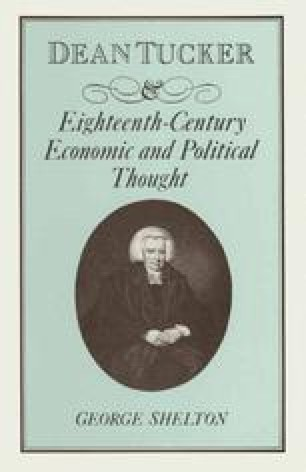 Dean Tucker and Eighteenth-Century Economic and Political Thought