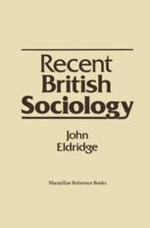 Recent British Sociology