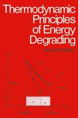 Thermodynamic Principles of Energy Degrading