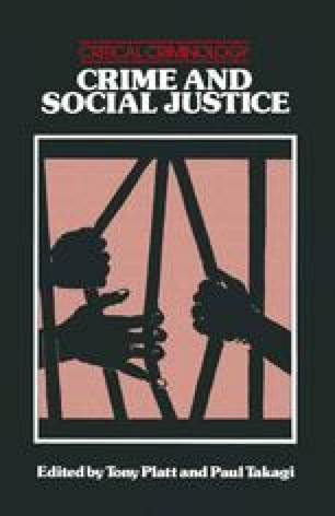 Crime and Social Justice