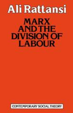 Marx and the Division of Labour