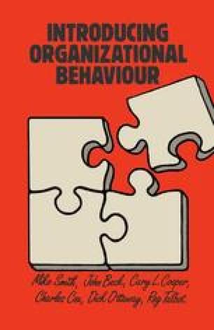 Introducing Organizational Behaviour