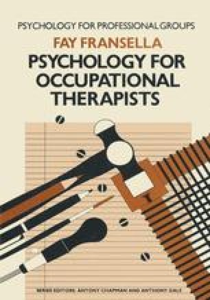 Psychology for Occupational Therapists