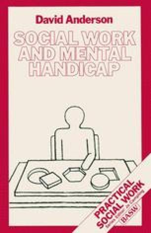 Social Work and Mental Handicap