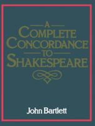 A Complete Concordance Or Verbal Index to Words, Phrases and Passages in the Dramatic Works of Shakespeare with a Supplementary Concordance to the Poems