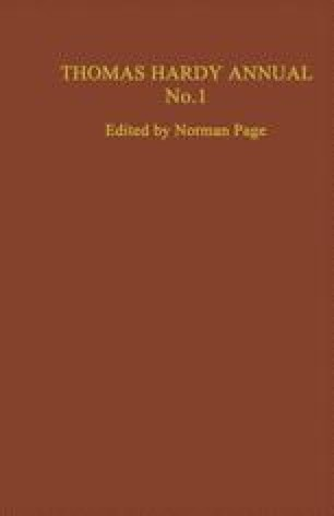Thomas Hardy Annual No. 1