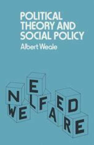 Political Theory and Social Policy