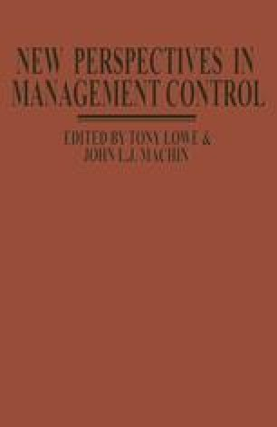 New Perspectives in Management Control