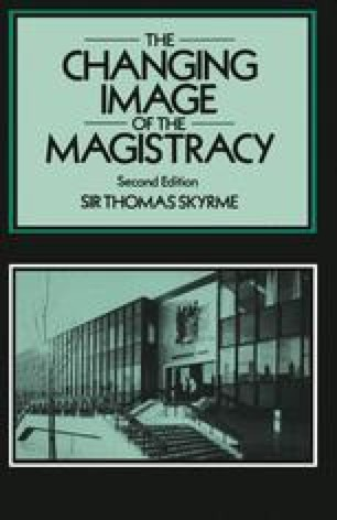 The Changing Image of the Magistracy