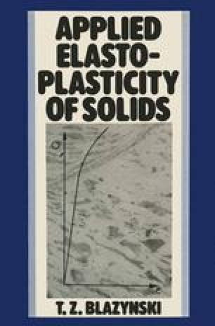 Applied Elasto-plasticity of Solids