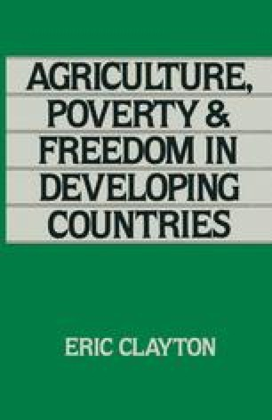 Agriculture, Poverty and Freedom in Developing Countries