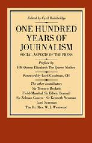 One Hundred Years of Journalism