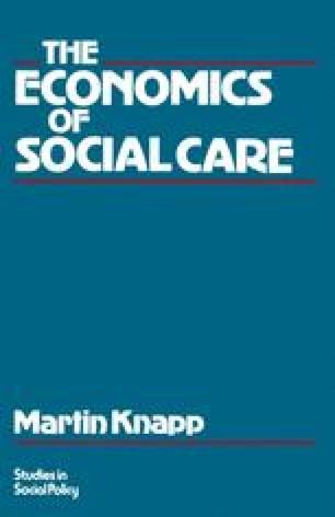 The Economics of Social Care