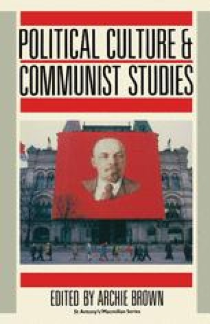 Political Culture and Communist Studies