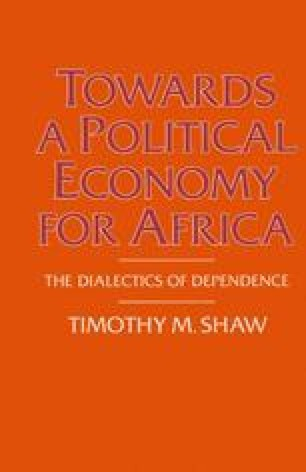 Towards a Political Economy for Africa