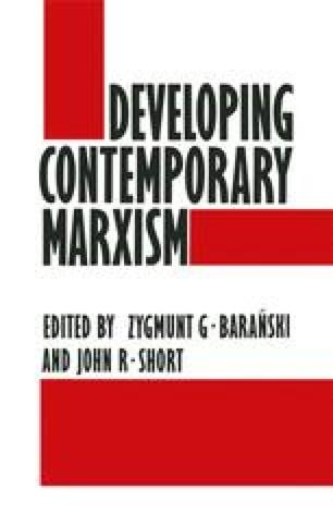 Developing Contemporary Marxism