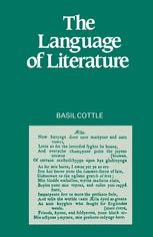 The Language of Literature