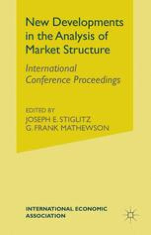 New Developments in the Analysis of Market Structure