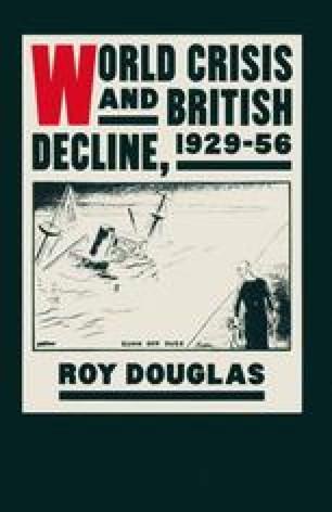 World Crisis and British Decline, 1929–56