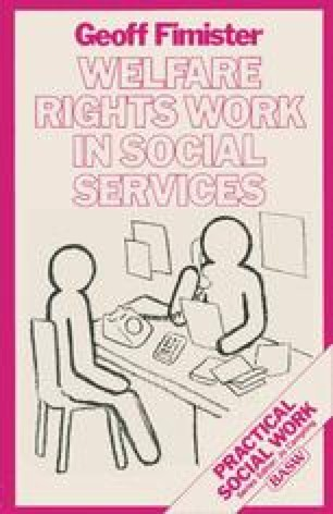 Welfare Rights Work in Social Services