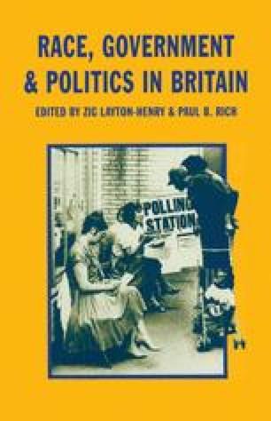 Race, Government and Politics in Britain