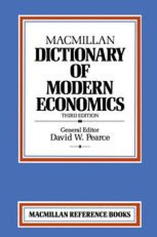 Macmillan Dictionary of Modern Economics