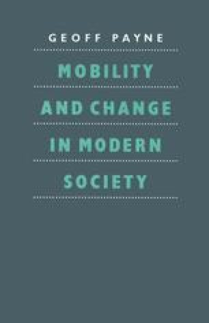 Mobility and Change in Modern Society
