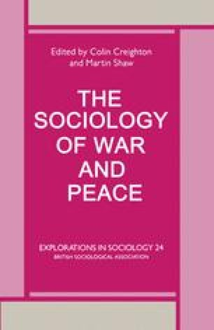 The Sociology of War and Peace