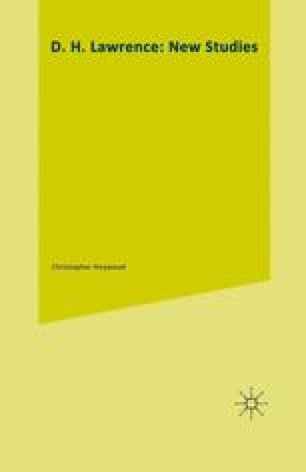 D. H. Lawrence: New Studies