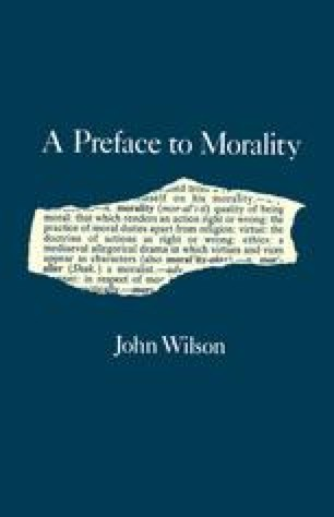 A Preface to Morality