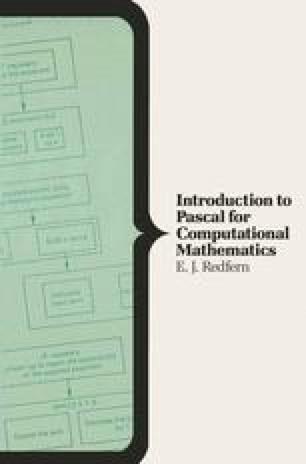 Introduction to Pascal for Computational Mathematics
