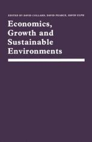 Economics, Growth and Sustainable Environments
