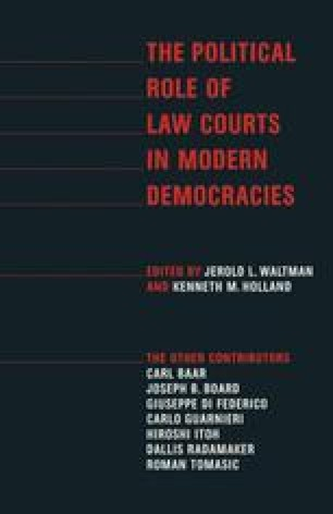 The Political Role of Law Courts in Modern Democracies