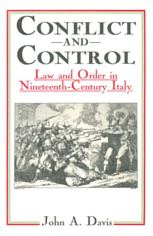 Conflict and Control: Law and Order in Nineteenth-Century Italy