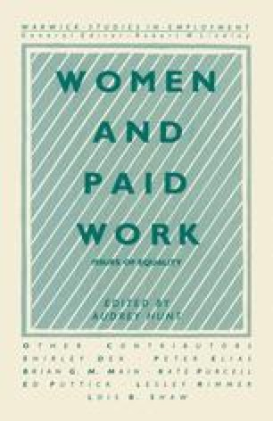 Women and Paid Work
