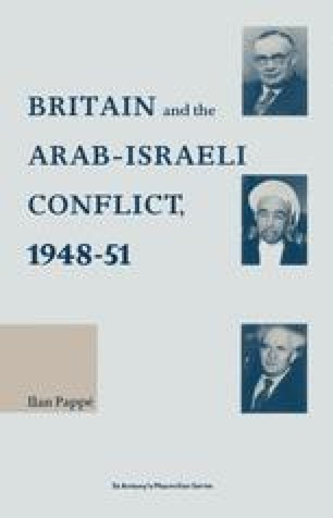 Britain and the Arab-Israeli Conflict, 1948-51