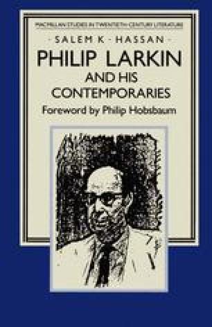 Philip Larkin and his Contemporaries