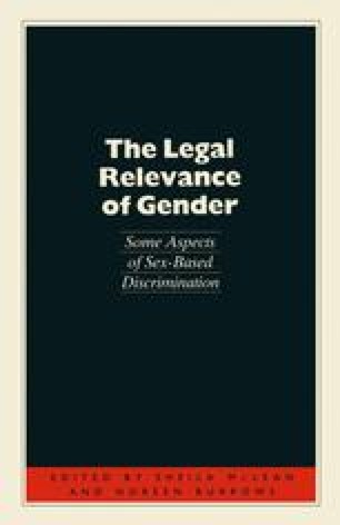 The Legal Relevance of Gender