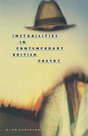 Instabilities in Contemporary British Poetry