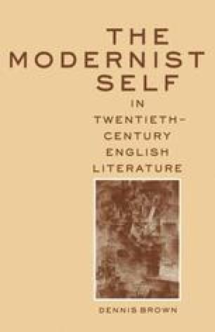 The Modernist Self in Twentieth-Century English Literature