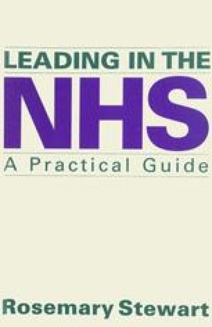 Leading in the NHS