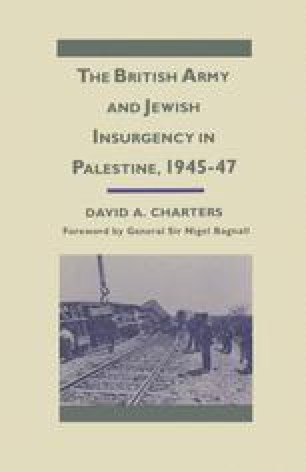 The British Army and Jewish Insurgency in Palestine, 1945–47