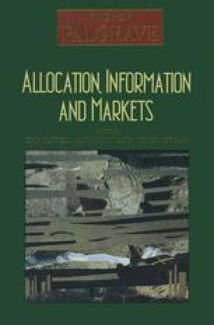 Allocation, Information and Markets